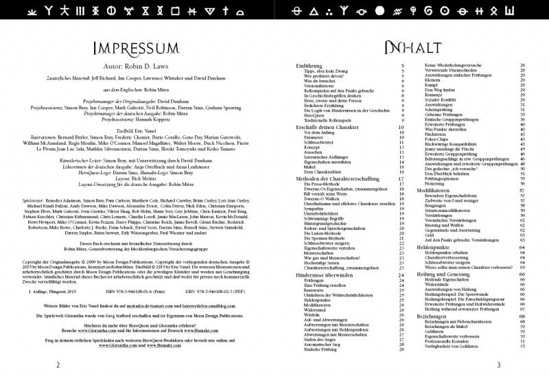 Beispielseite Impressum/Inhaltsverzeichnis